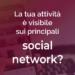 La tua attività è visibile sui social network?